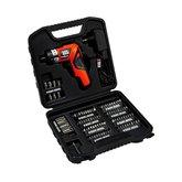 Kit Parafusadeira a Bateria 4,8V Bivolt Com 100 Peças e Maleta - BLACKDECKER-PD500CK