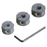 Conjunto de Limitadores de Profundidade com 3 Peças e Chave Sextavada - WOLFCRAFT-2755000