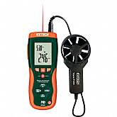 Anemômetro Térmico CFM/CMM com Termômetro Infravermelho Integrado - EXTECH-HD300