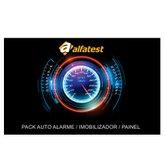 Cartão de Liberação Pack Alarme/Imobilizador/Painel para Scanner Kaptor V3 Powertrain - ALFATEST-42801043