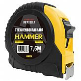 Trena Emborrachada Manual 7,5m x 25mm com Trava - HAMMER-GYTE7500