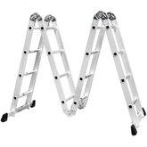 Escada Multifuncional 4x4 com 16 Degraus em Alumínio - FORTGPRO-FG8410
