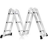 Escada Multifuncional 4x3 em Alumínio com 12 Degraus - FORTGPRO-FG8430