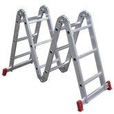 Escada Articulada 3x4 com 12 Degraus de Alumínio - BOTAFOGO-ESC0292