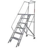 Escada de Alumínio Tipo Plataforma 6 Degraus 1,75 Metros - INTERALUM-PLT6