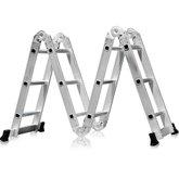 Escada Multifuncional 4x3 em Aço e Alumínio 12 Degraus - FORTGPRO-FG8435