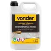 Limpador Pós Obra Biodegradável 5 Litros - VONDER-5184100500