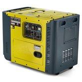 Gerador de Energia Cabinada a Diesel 8,1Kva  Trifásico Partida Elétrica - TOYAMA-TDG8000SLE3220