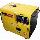 Gerador de Energia Cabinado a Diesel 4T Partida Elétrica 6 Kva 110/220V - TOYAMA-TD7000SGE