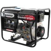 Gerador de Energia Diesel 4T Partida Manual 3,8 Kva Bivolt com Carregador de Bateria - TOYAMA-TD4000CX