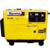 Gerador de Energia Série Silent à Diesel 4T Partida Elétrica 5,5Kva Bivolt - TOYAMA-T5500SGE