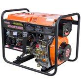 Gerador de Energia à Diesel 4T Partida Elétrica e Manual com Bateria 3,60kVA Bivolt - VULCAN-VGE-3600D