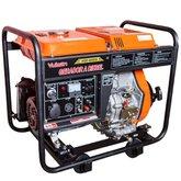 Gerador de Energia a Diesel 4T Partida Eletrica e Manual C/Bateria 7.500kVA Bivolt - VULCAN-VGE-6000D