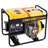 Gerador de Energia Portátil a Diesel 4T Partida Manual e Elétrica 6,25kVA 110/220V - CSM-GMD7000E