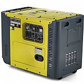 Gerador de Energia a Diesel Monofásico 13HP Bivolt Partida Elétrica - TOYAMA-TDG8000SLE