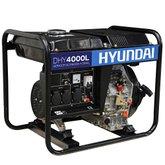 Gerador de Energia a Diesel Monofásico Bivolt Partida Manual 3.5Kva - HYUNDAI-DHY4000L