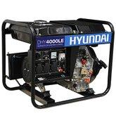Gerador de Energia a Diesel 4.0Kva Partida Elétrica Monofásico 110/220V - HYUNDAI-DHY4000LE