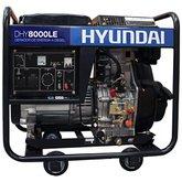 Gerador de Energia a Diesel Monofásico Bivolt Partida Elétrica 7.0kva - HYUNDAI-DHY8000LE