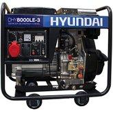 Gerador de Energia a Diesel Trifásico Bivolt Partida Elétrica 7.0Kva - HYUNDAI-DHY8000LE-3