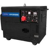 Gerador de Energia à Diesel 7.0Kva Silenciado Trifásico Bivolt Partida Elétrica - HYUNDAI-DHY8000SE-3