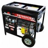 Gerador de Energia à Diesel 4T 6.000W 110/220V - TOYAMA-TD7000CBE