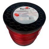 Bobina de Fio de Nylon Quadrado 3mm 2Kg para Roçadeira - TOYAMA-1301-004