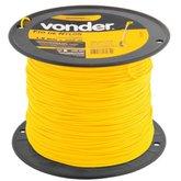 Fio de Nylon Amarelo Redondo 1,8 mm x 500 Metros para Aparador de Grama - VONDER-3373180500
