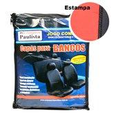 Jogo de Capas para Banco em Nylon Vermelho e Preto - ESTAMPARIA PAULISTA-CAP-NV