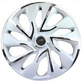 Calota DS4 Aro 14 White Chrome Cubo 4 x 100/ 4 x 108 - 01 Unidade - ELITE-4103