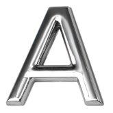 Letra A 39mm em ABS Cromada  - BEMFIXA-8862