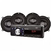 Som Automotivo MP3 One Quadriaxial Entrada USB e SD com 4 Alto Falantes - MULTILASER-AU954