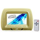 Encosto de Cabeça com Monitor e Leitor DVD/USB 7 Pol. Bege - H-TECH-HT-EC1003