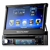 DVD Automotivo Retrátil Extreme 7 Pol. com GPS, Bluetooth e TV Digital  - MULTILASER-GP044