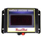 Voltímetro Automotivo Digital para 12V e 24V - REALBAT-VTR