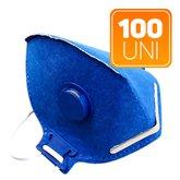 Kit 100 Máscaras Respiradoras Semifaciais PFF2 Valvuladas  - PROSAFETY-K57