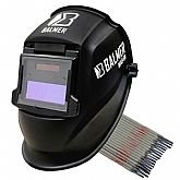 Kit Máscara de Autoescurecimento para Soldagem Balmer MAB90 Fixa Tonalidade 11 Automática + 1Kg de Eletrodo Titanium 6013 2,5mm - BALMER-K138