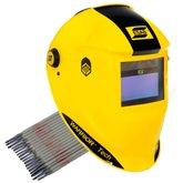 Máscara de Solda Automática Esab Warrior Tech Amarela + Eletrodo Titanium 6013 2,5mm 1Kg - ESAB-K140