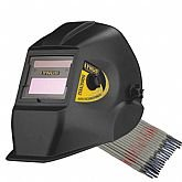 Kit Máscara de Solda Automática Lynus MSL500S com Regulagem de 9 a 13 DIN + Eletrodo Titanium 6013 - LYNUS-K142