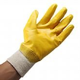 Luva Látex Nitrílico Amarelo - OMEGA-OMG0002