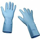 Luva Silver Blue de Borracha Nitrílica G - CARBOGRAFITE-012311212
