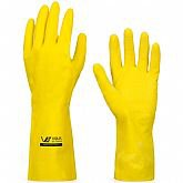 Luva Multiuso Látex Standard Amarelo com Forro - Média - VOLK-10.51.044.01-M