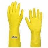 Luva Multiuso Látex Standard Amarelo com Forro - Grande - VOLK-10.51.044.01-G
