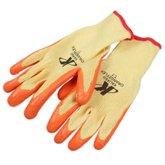 Luva de Segurança Tricotada com Látex Tamanho M - Orange Flex - KALIPSO-02.08.1.2