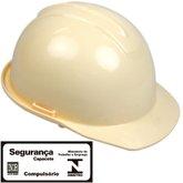 Capacete de Segurança Evolution Bege com Carneira - CARBOGRAFITE-010358310