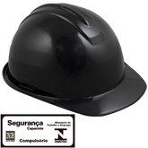 Capacete de Segurança Evolution Preto com Carneira - CARBOGRAFITE-010359010