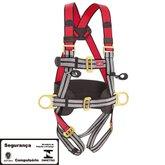 Cinto de Segurança tipo Paraquedista com 3 Pontos de Ancoragem - STEELFLEX-STF-CQCT3121