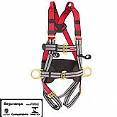 Cinto de Segurança Tipo Paraquedista com 4 Pontos de Ancoragem - STEELFLEX-STF-CQCT4121