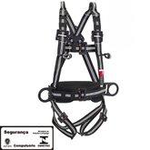 Cinto de Segurança Paraquedista Dielétrico e Antichamas com 4 P Ancoragem - STEELFLEX-STF-CQCT4391