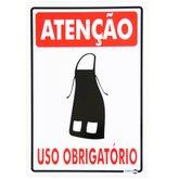 Placa Sinalizadora de Atenção uso Obrigatório Avental - ENCARTALE-PS-653