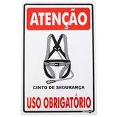 Placa Sinalizadora de Atenção Uso Obrigatório de Cinto de Segurança - ENCARTALE-PS-239